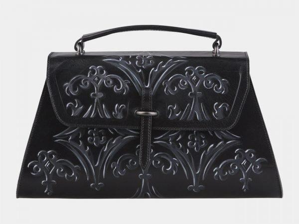 Солидная черная сумка с росписью ATS-2142