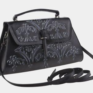Солидная черная сумка с росписью ATS-2142 215765