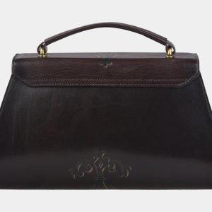 Стильная коричневая сумка с росписью ATS-2143 215761