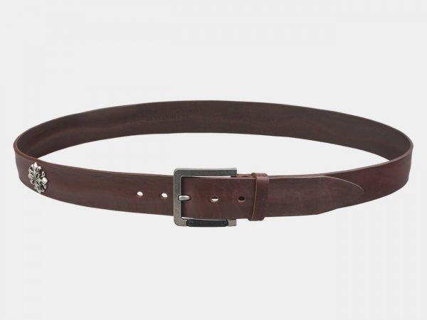 Деловой светло-коричневый мужской джинсовый ремень ATS-3357