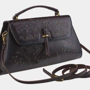 Стильная коричневая сумка с росписью ATS-2143 215760