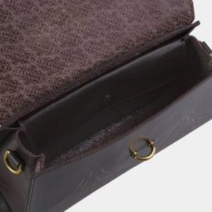 Стильная коричневая сумка с росписью ATS-2143 215762
