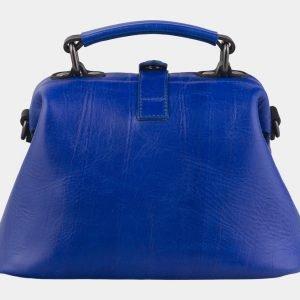 Уникальная голубовато-синяя сумка с росписью ATS-2145