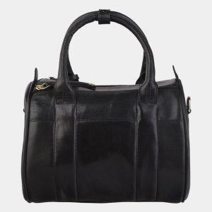 Деловая черная сумка с росписью ATS-2180