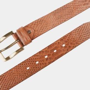 Солидный темно-оранжевый женский джинсовый ремень ATS-801 217132