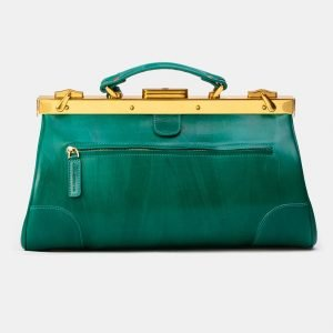 Стильный зеленый саквояж с росписью ATS-3339 212800