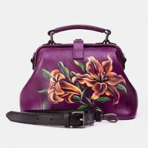 Неповторимая фиолетовая сумка с росписью ATS-3340