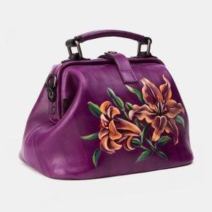 Неповторимая фиолетовая сумка с росписью ATS-3340 212794