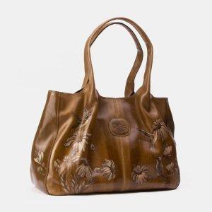 Неповторимая желтовато-зелёная сумка с росписью ATS-3344 212774