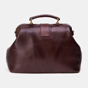 Солидная коричневая сумка с росписью ATS-3343 212780