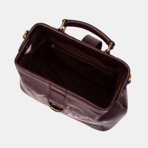 Солидная коричневая сумка с росписью ATS-3343 212781