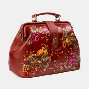 Уникальная светло-коричневая сумка с росписью ATS-3341 212789