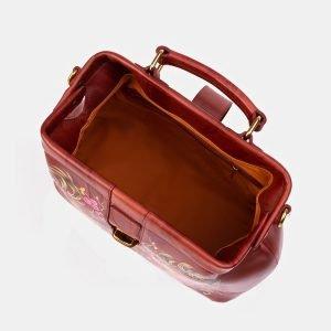 Уникальная светло-коричневая сумка с росписью ATS-3341 212791