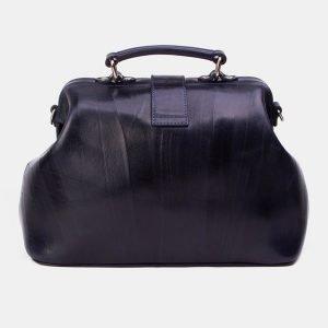 Кожаная синяя сумка с росписью ATS-3342 212785