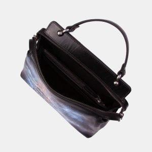 Вместительная черная сумка с росписью ATS-3346 212766