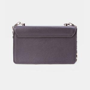 Кожаный серый клатч с росписью ATS-3348 212755