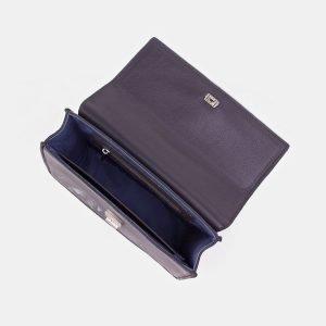 Кожаный серый клатч с росписью ATS-3348 212756