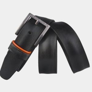 Кожаный черный мужской джинсовый ремень ATS-3429 212486
