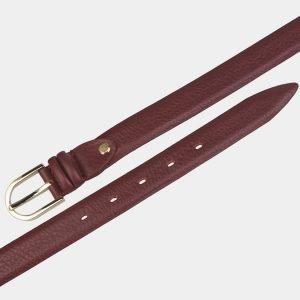 Стильный бордовый женский модельный ремень ATS-3420 212521