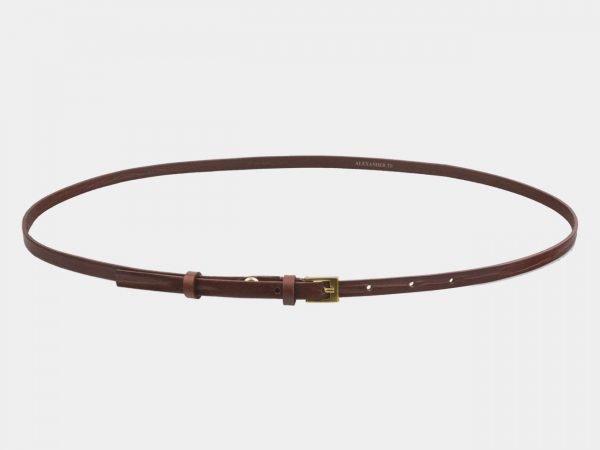 Солидный светло-коричневый женский модельный ремень ATS-2829