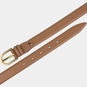 Кожаный светло-желтый женский модельный ремень ATS-3428 212489