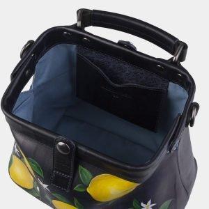 Неповторимая синяя сумка с росписью ATS-2269 215545
