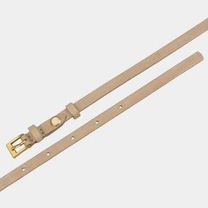 Уникальный бежевый женский модельный ремень ATS-2837 214206