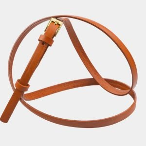 Удобный оранжевый женский модельный ремень ATS-2840 214195