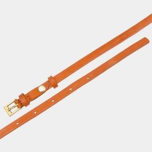 Удобный оранжевый женский модельный ремень ATS-2840 214194
