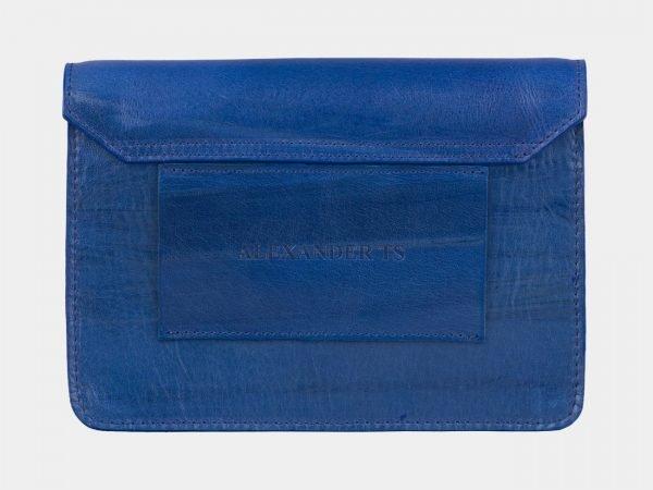 Удобная голубовато-синяя женская сумка на пояс ATS-2194