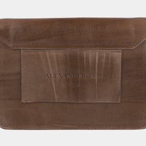 Солидная бежевая женская сумка на пояс ATS-2191 215715
