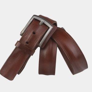 Кожаный светло-коричневый мужской джинсовый ремень ATS-3536 212151