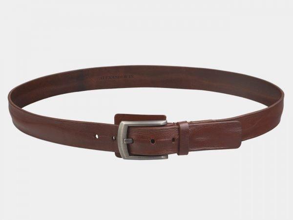 Кожаный светло-коричневый мужской джинсовый ремень ATS-3536