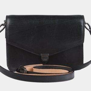 Уникальная черная женская сумка на пояс ATS-2198