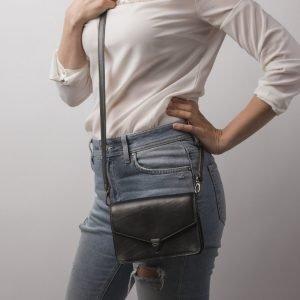 Вместительная серая женская сумка на пояс ATS-2192 215710