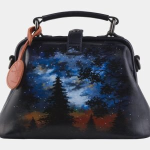 Уникальная черная сумка с росписью ATS-2266