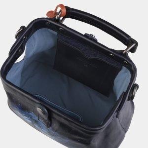 Уникальная черная сумка с росписью ATS-2266 215556