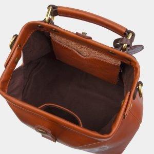 Функциональная темно-оранжевая сумка с росписью ATS-2861 214125
