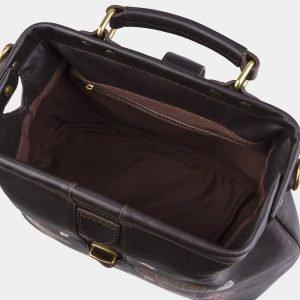 Солидная коричневая сумка с росписью ATS-2862 214120