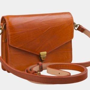 Кожаная оранжевая женская сумка на пояс ATS-2235 215602