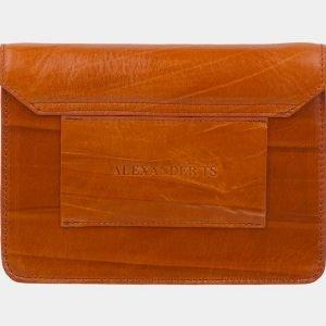 Кожаная оранжевая женская сумка на пояс ATS-2235 215600