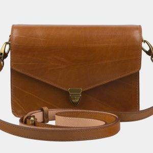 Стильная темно-оранжевая женская сумка на пояс ATS-2236