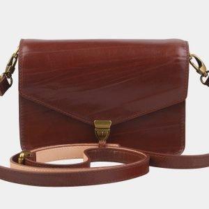 Неповторимая светло-коричневая женская сумка на пояс ATS-2237
