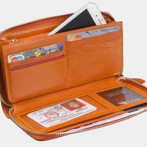 Солидный оранжевый портмоне ATS-2868 214106