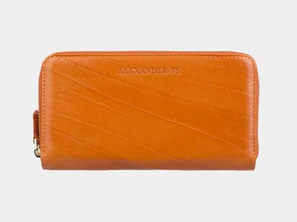 Кожаный оранжевый портмоне ATS-2869