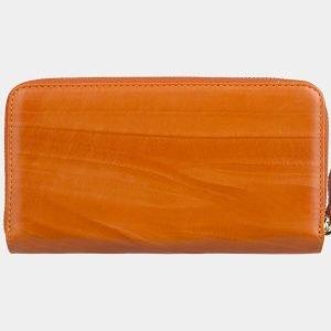 Кожаный оранжевый портмоне ATS-2869 214103