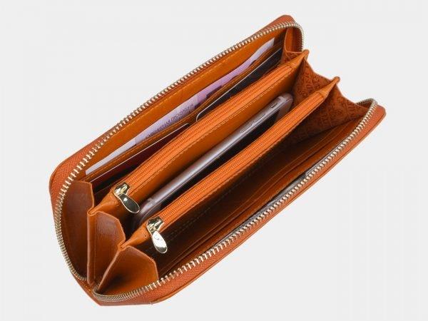 Солидный оранжевый портмоне ATS-2870