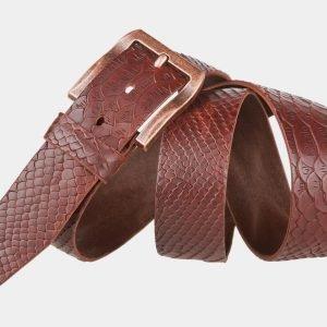 Кожаный светло-коричневый женский джинсовый ремень ATS-810 217113