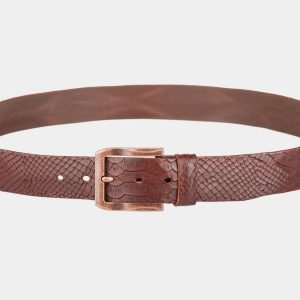 Кожаный светло-коричневый женский джинсовый ремень ATS-810