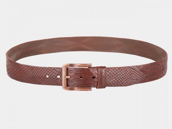 Солидный светло-коричневый женский джинсовый ремень ATS-810